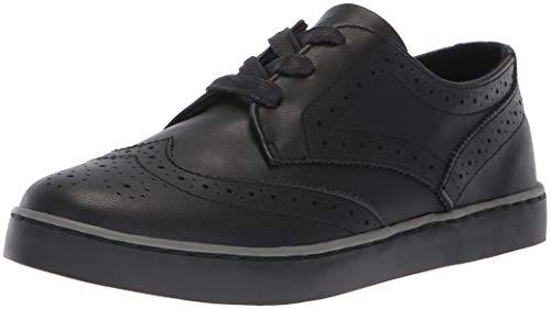 Polo Ralph Lauren Kids Boys' Alek Oxford Sneaker, Black Burnished, M100 M US Toddler - Burnished Kid Footwear