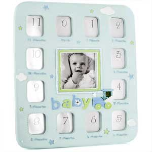 Blue Baby Boy My First Year Photo Frame Amazoncouk Kitchen Home
