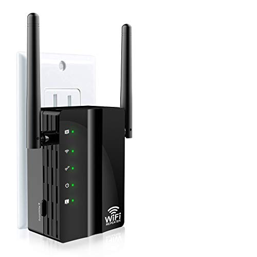 WiFi Range Extender, Wsiiroon 300Mbps Wireless WiFi Repeater Internet Signal Booster, 360Degree Full Coverage, Extends WiFi Range to Smart Home Devices(Unique Router Mode Can Replace Routers)
