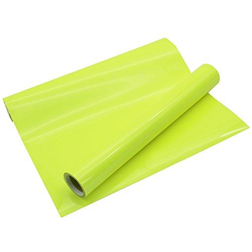 (Heat Transfer Vinyl Roll PU Neon Yellow HTV 10