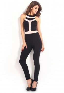 Neue Damen Schwarz Ärmellos Jumpsuit Catsuit Spielanzug Bodysuit Club Wear Kleidung Größe 14