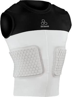 McDavid 787 IR Adult HexPad 5-Pad Compression Body Shirt White X-Large