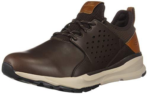 Skechers Men's RELVEN-HEMSON Sneaker, Chocolate, 10.5 Medium US