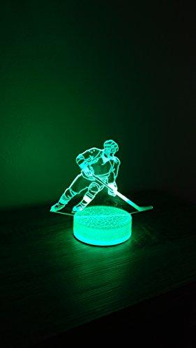 Hockey Player 3D Night Light 7 Color LED ()