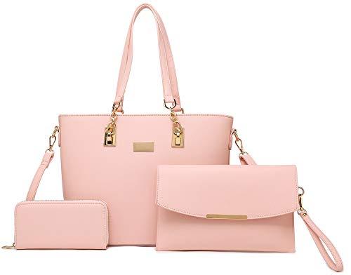 Women Tote Handbag + Envelopes + Wallet 3 Piece Set Bag Shoulder...