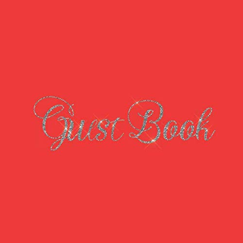 Guest Book: Red Heart Silver