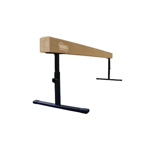 Nimble Sports Tan Adjustable Balance Beam, 8 Feet Long, 14 to 24 Inches High