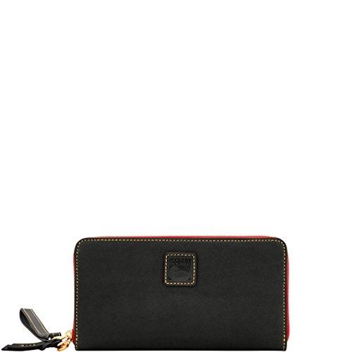 Wallet Zip Bourke Dooney Around (Dooney & Bourke Florentine Large Zip Around Wallet/Wristlet Black)