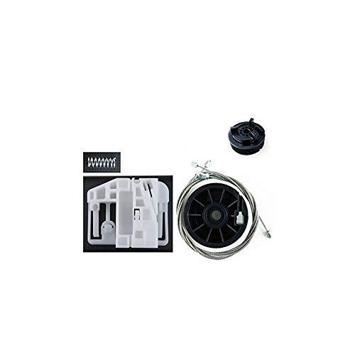 OSR Lado Izquierdo y Trasero LTS Clips Kit de reparaci/ón de regulador de ventanilla el/éctrica para Parte Trasera Derecha polea Cables de regulador de Ventana