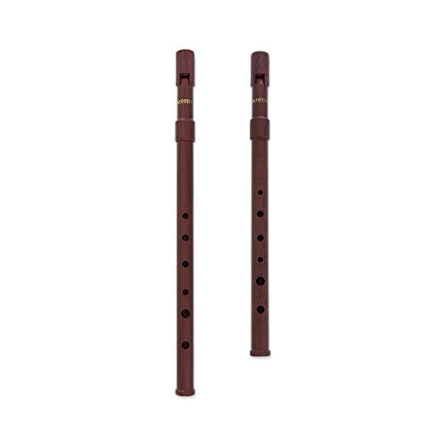 Woodi WI-921W WI-922W Set of 2 Irish Whistle Wood Grain Key of C & Key of D Tin Whistle Penny Whistle ABS (Tin Grain)