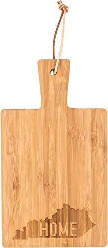 Kentucky Home Letter Stamped 8.5 x 4.75 Wood Paddle Cheese Cutting Board ()