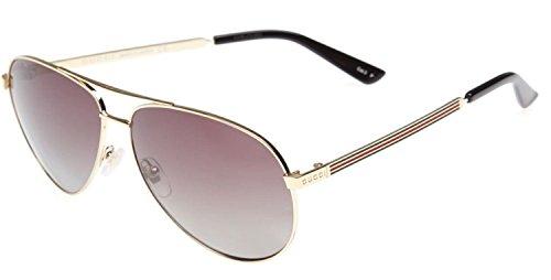 e6dcd8ae4a1 GUCCI Aviator Sunglasses Metal Gold Polarized 61mm 0237 2281