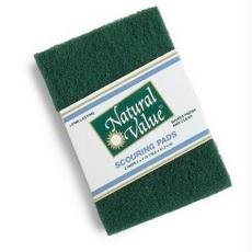 Natural Value B60078 Natural Value Scouring Pad Sponge -24x2ct