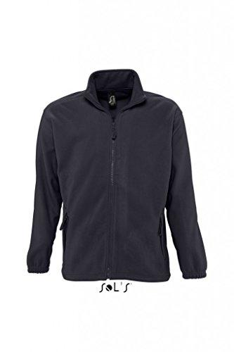 Sols Fleecejacke Fleece Jacke North bis Gr. 5XL ,Charcoal Grey, M