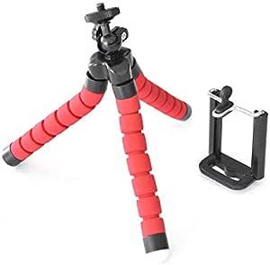 ستاند حامل ثلاثي للكاميرات الرقمية و الهواتف الذكية ، احمر