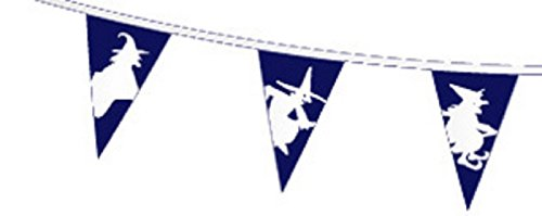 Halloween White Witch Superior Material String Flags / Bunting 5m (16') Long With 12 Flags
