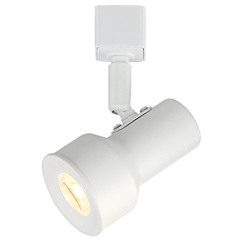 Designers Fountain EVT1030D3-06 Small Solid White Step Cylinder Integrated LED Track Lighting Head, 3000K, 6 in. in