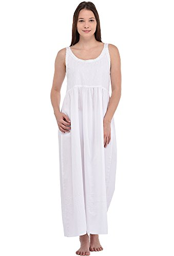 Cotton Lane weiß Baumwolle Vintage Reproduktion Plus Größe Kleid ...