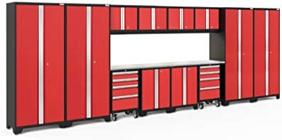 NewAge Products Bold 3.0 Red 14 Piece Set, Garage Cabinets, 50639
