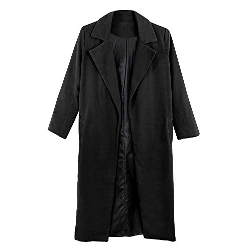 Casual Trench Longues Revers D'Extrieur Hipster Manteau Printemps Vtements Manches Automne Femme Fille Outerwear Fashion Manche Uni Schwarz Parker Slim Longues Fit EqxwpSFq