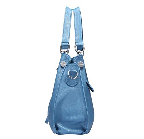 Orange color Cuir Dhrfyktu Blue Grande Casual Capacité Élégant Light À Sac En Messenger Bandoulière Style Minimaliste 7OZq07