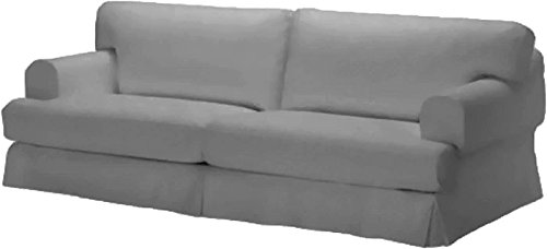 Durabale Dense Cotton Three Seat Hovas Sofa Cover Replacement Is Custom Made for Ikea Hovas 3 Seater Slipcover Only (Hovas Gray)