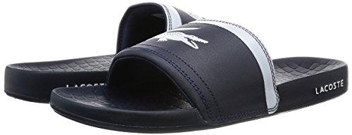 110b39b224 Amazon.com: Lacoste Men's Fraisier BRD1 US SPM Flip Flops, Blue: Clothing