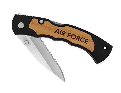 Lockback Knife Laser Engraved (Air Force) Air Force Lockback Knife