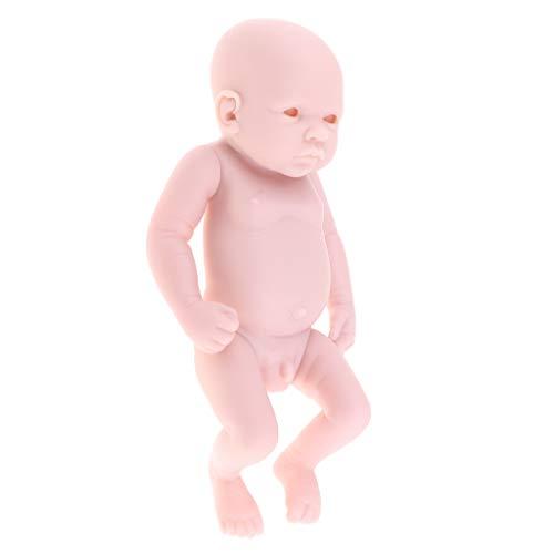 (MagiDeal 11inch Handmade Soft Silicone Doll Reborn Kits Unpainted Full Body Blank Boy Doll Model Normal Skin)