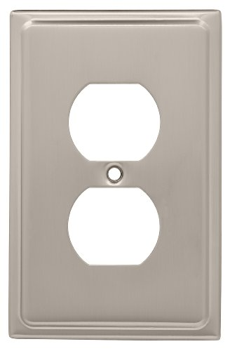 Franklin Brass 126362 Country Fair Single Duplex Wall Plate, Satin Nickel