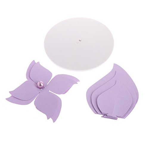 Techinal Handmade Art Crepe Paper Windmill Paper Flower Hanging Backdrop Perfect For Wedding Party Wall Decor, Birthday Celebration (Light Purple) (Flowers Windmill)