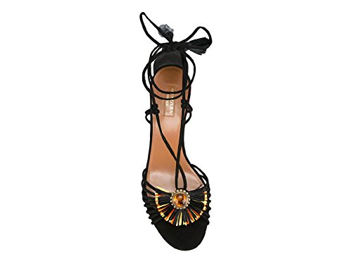 Sandals Suede SABMIDS0SUE000 AQUAZZURA Women's Black xP0wtnIqX