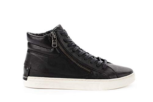 Uomo Nero Crime Hi Top Sneakers 11327aa120 London Pelle wgqCA
