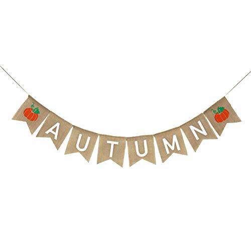 - Autumn Banner Burlap | Autumn Decorations | Autumn Bunting | Fall Banner Burlap | Fall Decor | Harvest Banner | Thanksgiving Decor