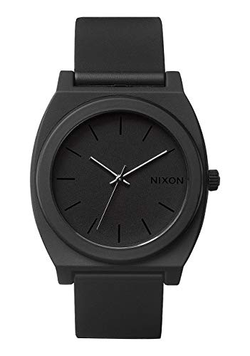 Nixon Time Teller P A119. Matte Black Men's Watch (40mm. Matte Black Poly Band/ Matte Black Watch Face)
