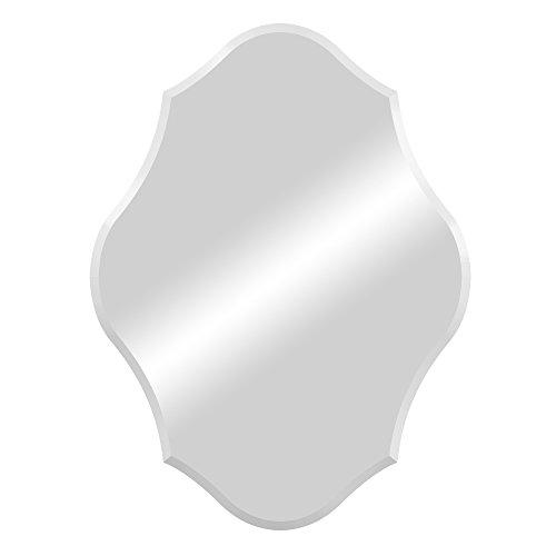 Patton Wall Decor 1404-1056 Royal Scalloped Edge Frameless Mirror Wall Mirror Silver by Décor Therapy