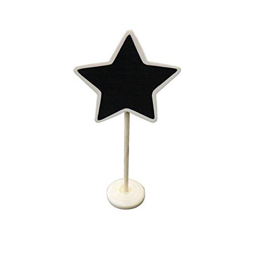 PaperLanternStore.com Star Standing Wedding Chalkboard Sign Table Number Holder from Quasimoon