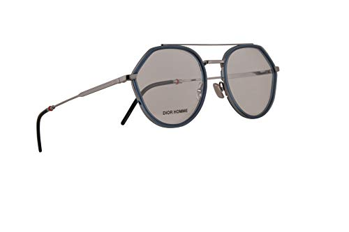 Christian Dior Homme Dior0219 Eyeglasses 52-19-150 Blue Ruthenium w/Demo Clear Lens DTY 0219