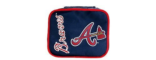 Concept One Accessories MLB Atlanta Braves Lunchbreak Lunchbox, Navy, 10.6