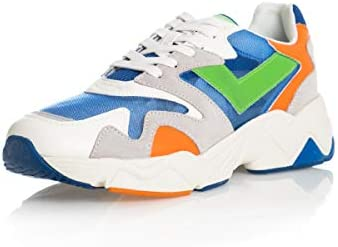 Pony Sneakers Homme PY1 Blue EXU Green Fluo Blue-Verde Fluo HW00822BL1-A5