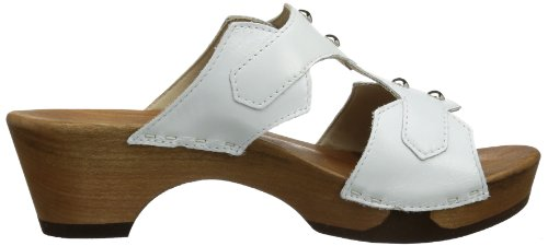Leonie Mules Weiss Woody 005 White Women's wSOqU
