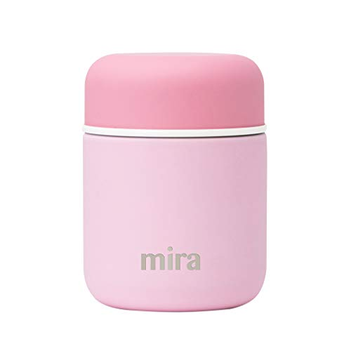MIRA 9 oz Lunch, Food Jar | Vacuum Insulated Stainless Steel Lunch Thermos | Pink (Best Lunch Box Brands)