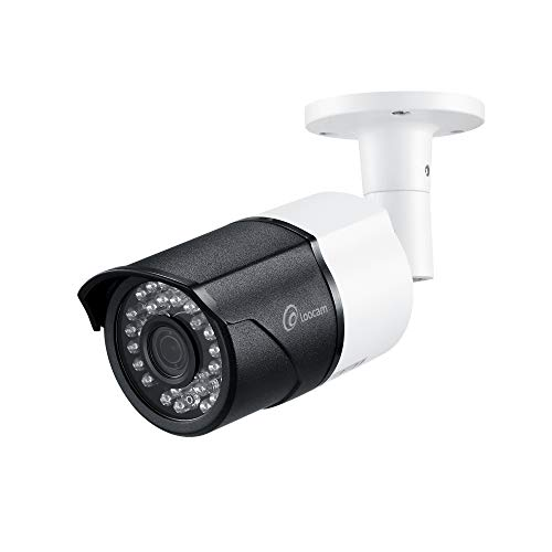 Loocam HD 5MP 2592×1920 Security Camera Outdoor Indoor Video Surveillance Home Metal Housing Bullet CCTV Camera 150ft IR Night Vision with Wide Angle IP67 Weatherproof,Black and White