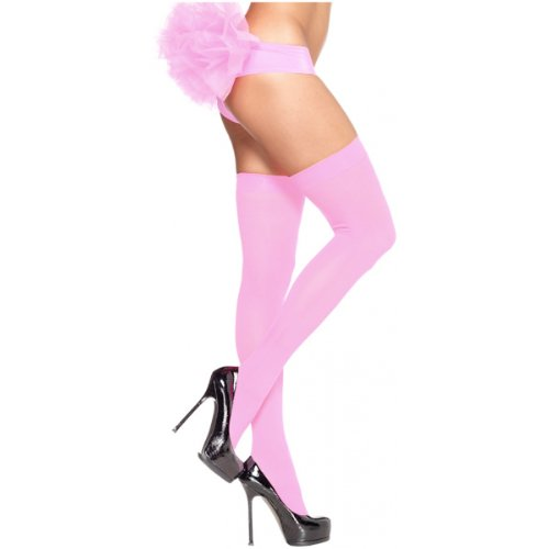 [Opaque Nylon Thigh Highs Hosiery - One Size - Dress Size 6-12] (Holoween Costumes Ideas)