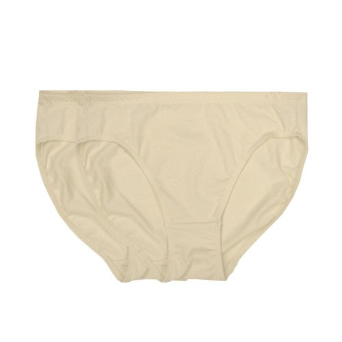 Organic+cotton+underwear Products : Ecoland Women's Organic Cotton Hi-cut Brief (2 pcs/pack) - Made in USA - Natural Only