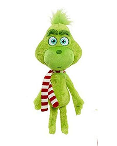 Christmas Doll How the Grinch Stole Stuffed Plush Toy Xmas Kids Gifts (Grinch with Scarf)