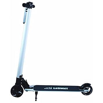 SABWAY Scooter eléctrico Bolsillo Blanco: Amazon.es ...