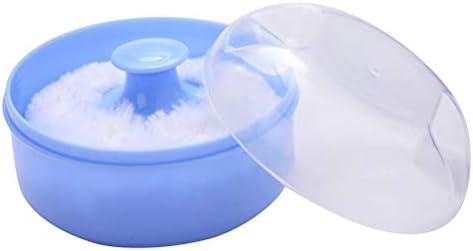 Supvox 2 stücke After-Bath Körperpuder Box Leere Pulver Fall Puderquaste Container Halter für Zuhause und Reise Kosmetikbehälter (blau)