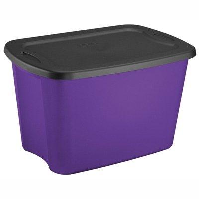 Incroyable Sterilite 18 Gallon Purple U0026 Black Storage Tote   Great For Fall Storage!