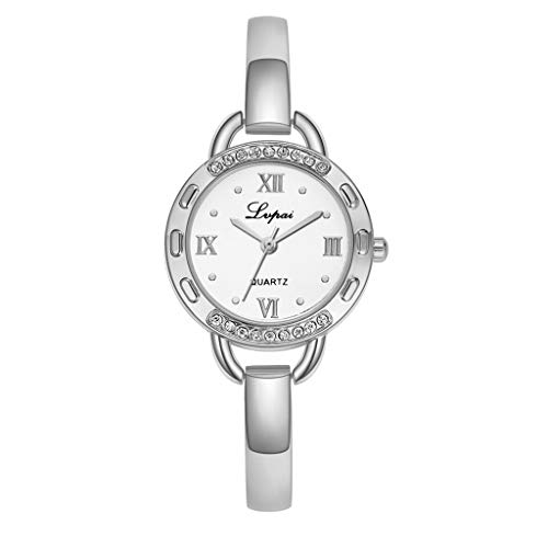 - LUCAMORE Women's Exquisite Quartz Watch Roman Numeral Dial Stainless Steel Band Casual Business Wrist Watch